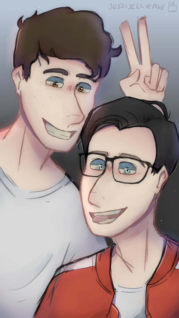 Dan and Phil (my phone background V2) by jessijellycake