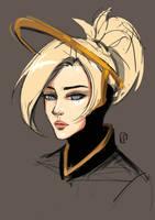 Overwatch: sketchy Mercy by Lilexor