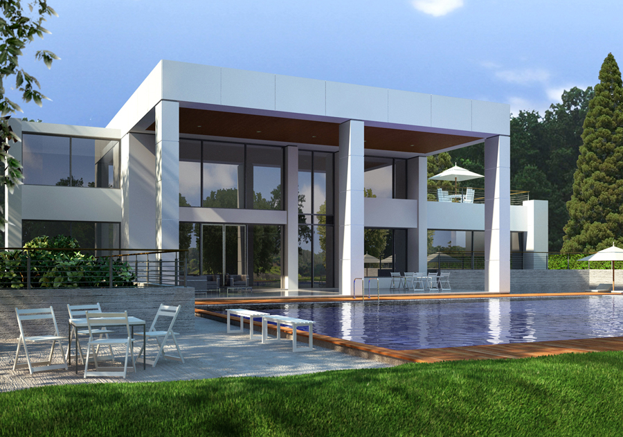My Office Home  ZoDev Design Architectural Rendering