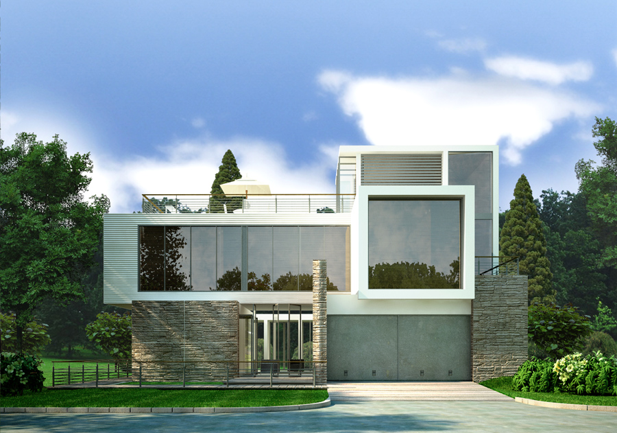 Modern country home by zodevdesign on deviantart for Modern country homes
