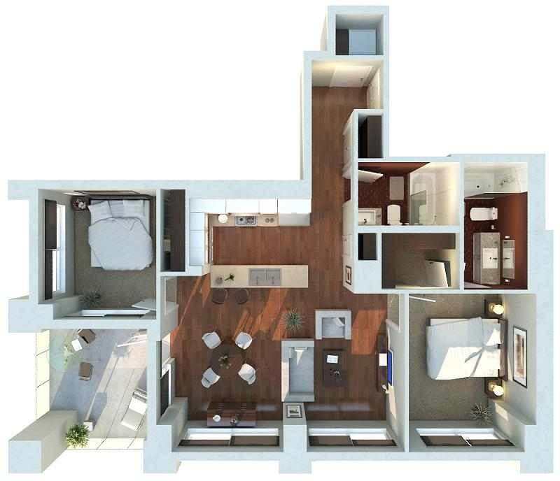 Architectural Rendering created by ZoDev Design.