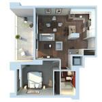 Apartment 3D Floor Plan