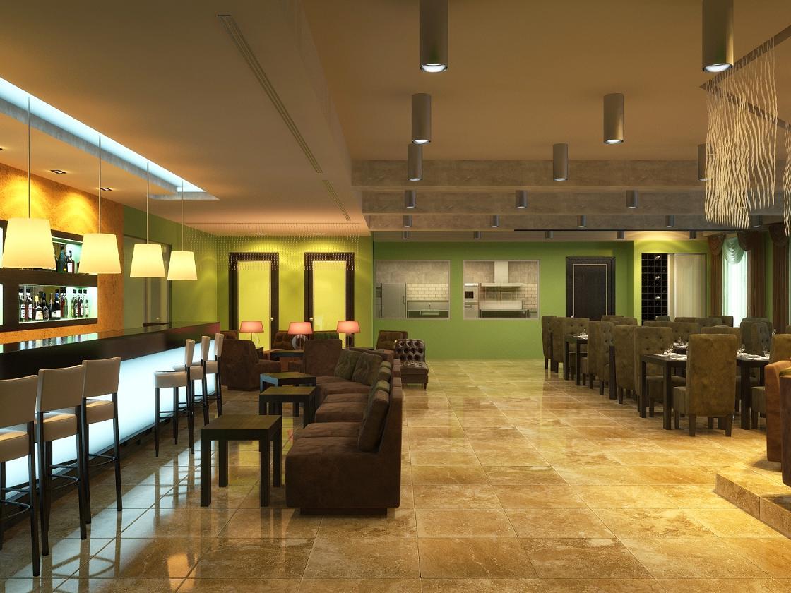 Restaurant rendering by zodevdesign on deviantart