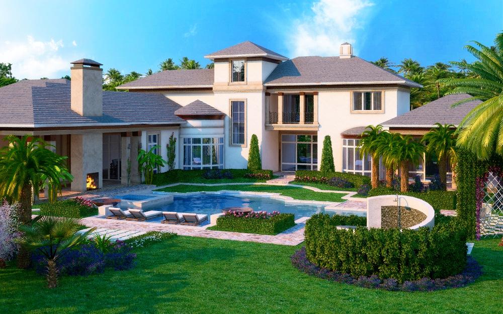 Home Rendering of Pool by zodevdesign