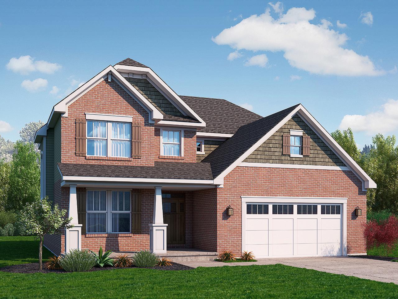 Brick Ranch Rendering Home Design Carbondale Brick Home