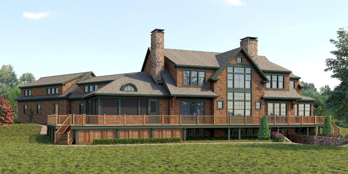 Evasius Lake House Rear Rendering by zodevdesign