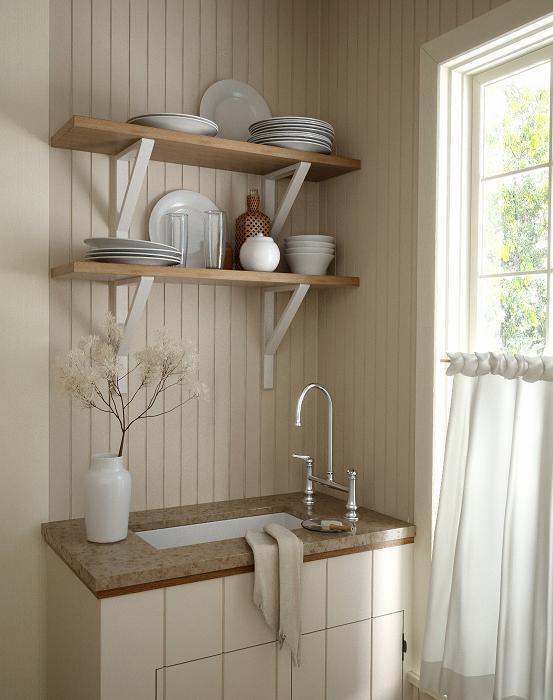 Tonal Kitchen  3D Studio Max  ZoDev Design Architectural Rendering