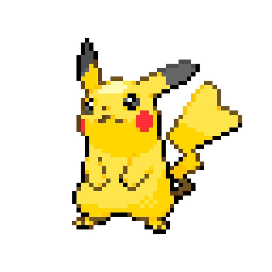 Pikachu Pixel Art Ryepronbengq