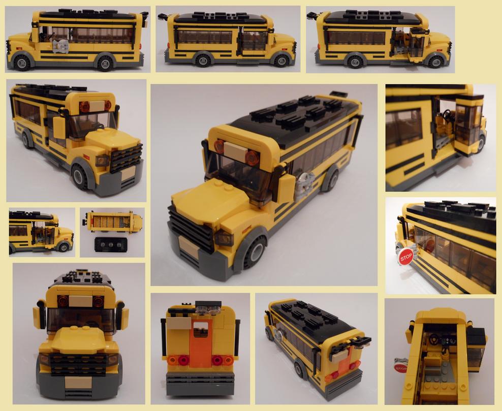 Lego School bus by Spooky42