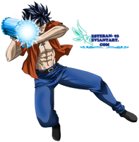 gray  fullbuster - ice cannon by esteban-93