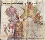 Sketchbook Update #2 Oct. 19 - Oct. 31, 2014