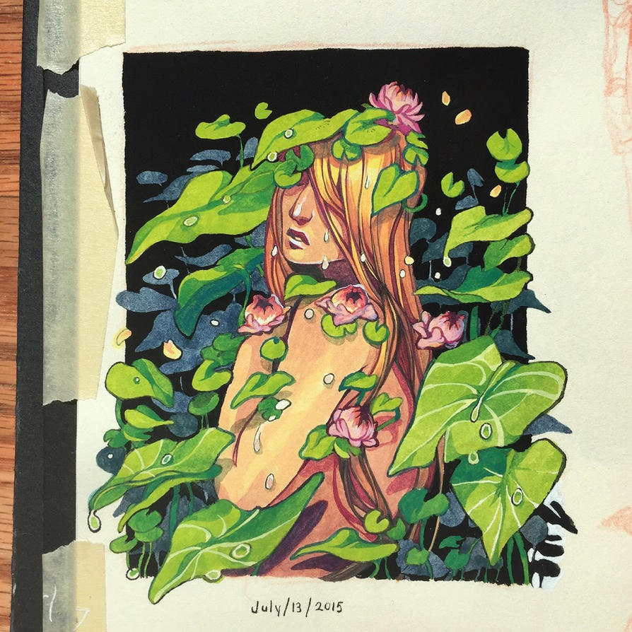 small gouache painting by HJeojeo