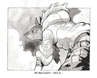 Inktober Day 6 by HJeojeo