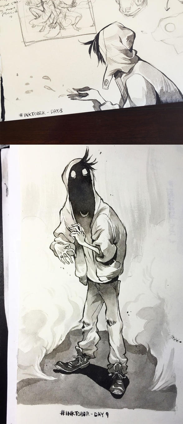 Inktober Day 8 and 9 by HJeojeo