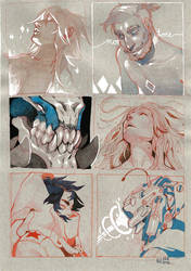 Six Panel sketchbook page by HJeojeo