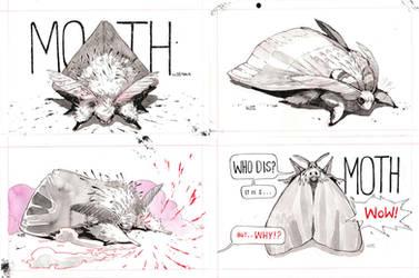Moth ink drawings