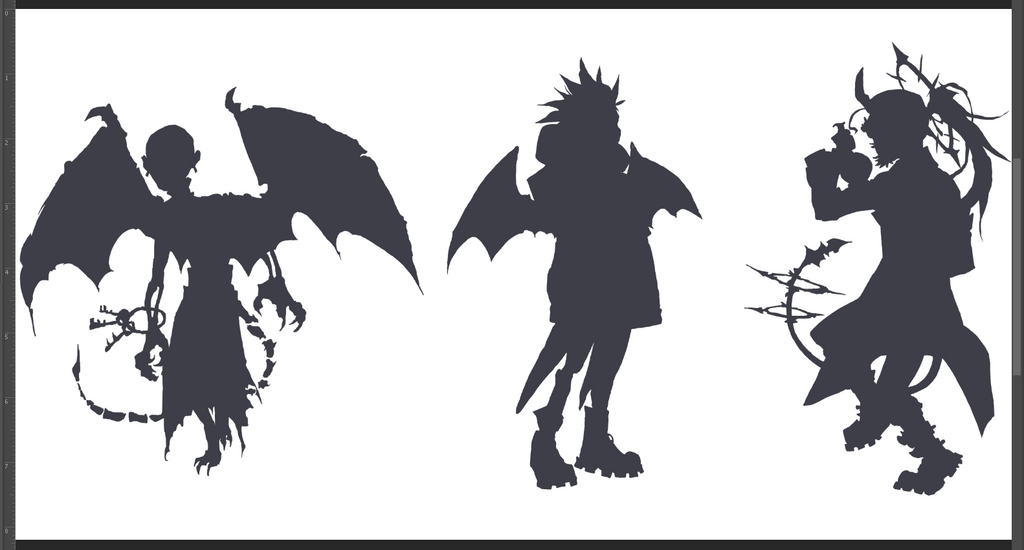 Hallowen Adopts Preview Silhouettes by HJeojeo