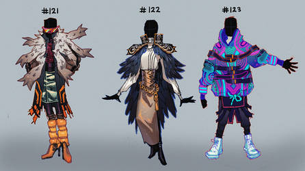 [closed!] Outfit Adopts - #121 - #123 [Auction] by HJeojeo
