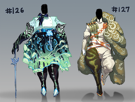 [Closed!] Outfit Adopts #126 and #127