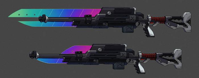 AB bonus art for Design #160 - weapon close up