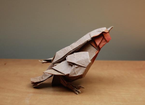 Origami Robin by nekomancer123