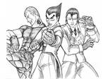 Bryan, Kazuya and Dragunov by pricon