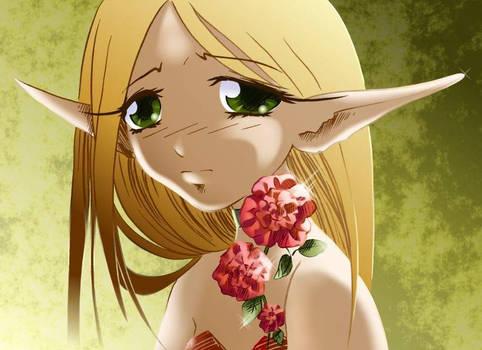 Sad elf girl