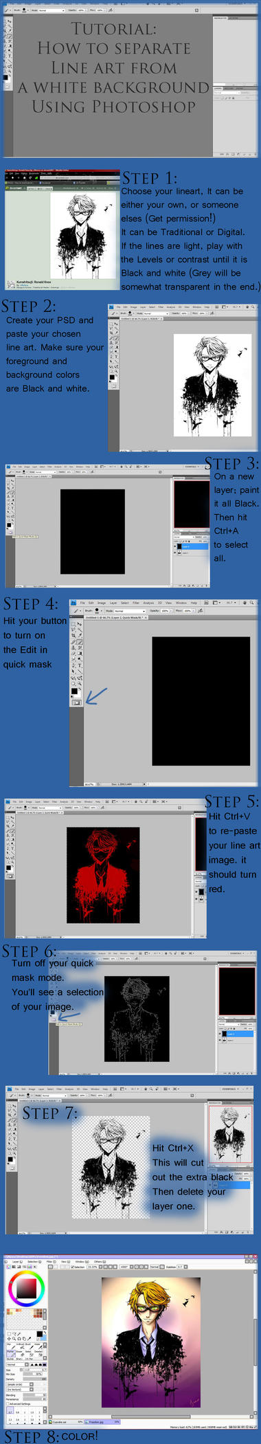 TUTORIAL: Separate line art from background by TiBun