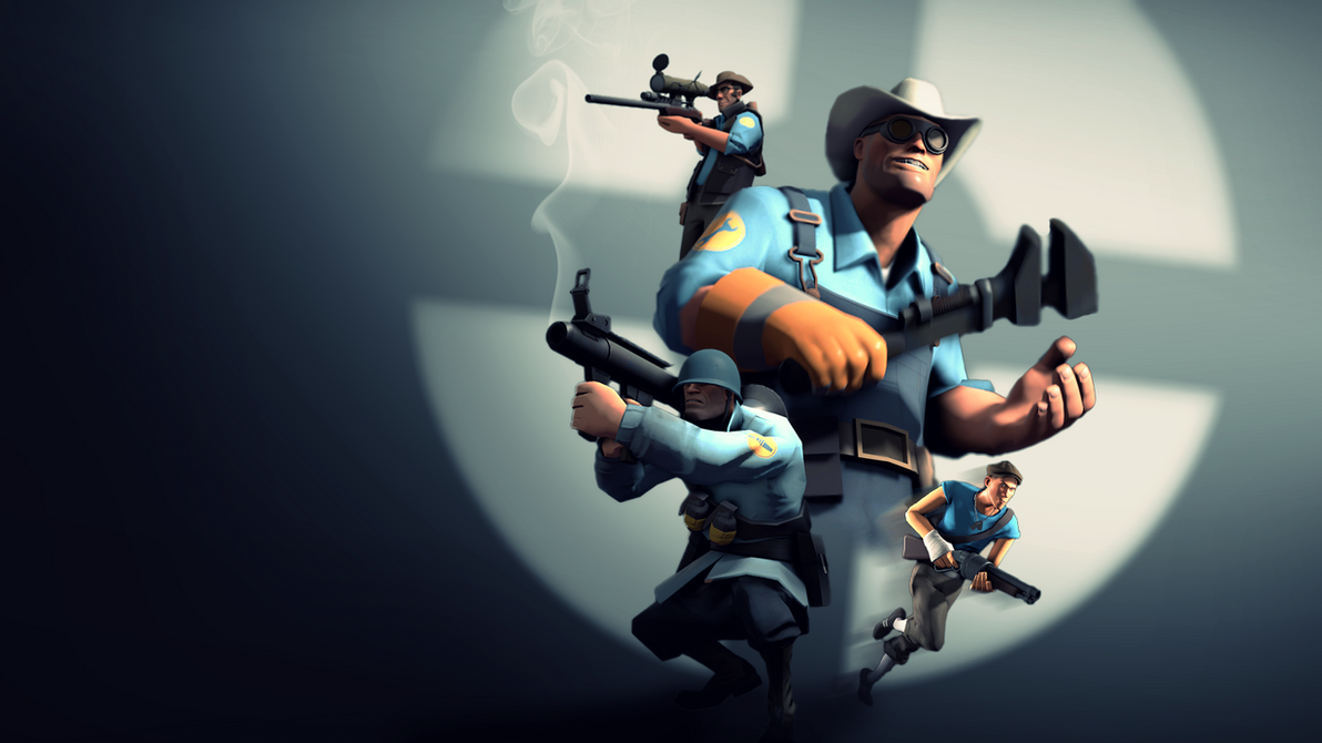 Team Fortress 2 Wallpaper (BLU) by Robogineer