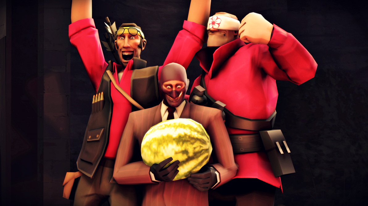 Karate Sniper, Pupil Soldier, and Melon Spy by Robogineer