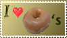 I love Donuts Stamp by Teeter-Echidna