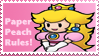 Paper Peach Stamp by Teeter-Echidna