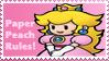 Paper Peach Stamp by Teeter-Echidna