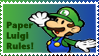 Paper Luigi Stamp by Teeter-Echidna