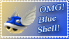 Blue Shell Stamp by Teeter-Echidna