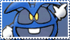 Blue Dr. Mario Virus Stamp by Teeter-Echidna