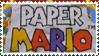 Paper Mario Logo Stamp by Teeter-Echidna