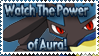 Lucario Stamp by Teeter-Echidna