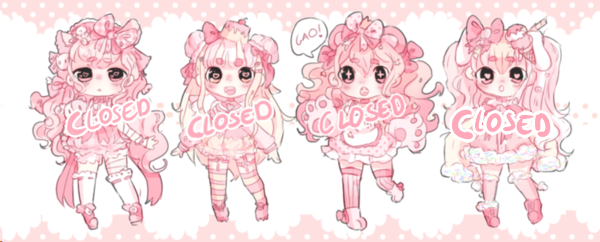 Pink adopt batch 6# Set price 1x2 (closed!) by Bai-Jiu
