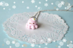 Pink Baby Octopus Hana-chan 3D Necklace by Unicharms