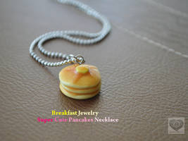 Breakfast Jewelry: Scented Maple Pancakes Necklace by Unicharms