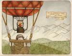 Bo's history: Bo flying by a balloon. by mirt