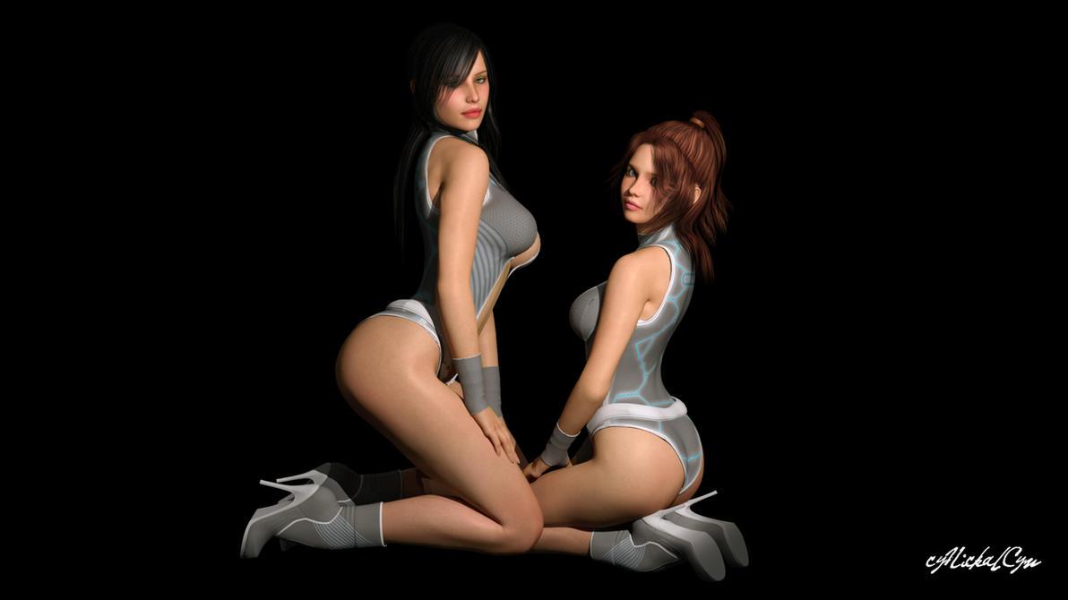 Minoko Sisters Test Pose by cyNickalCyn
