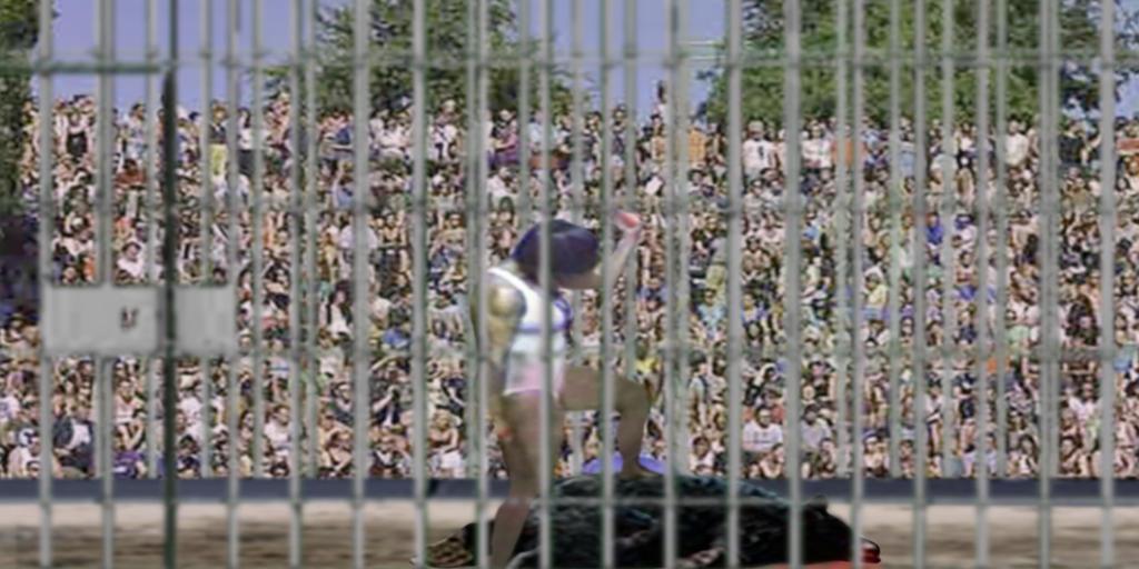 Cage fight winner by PhillipVandamme