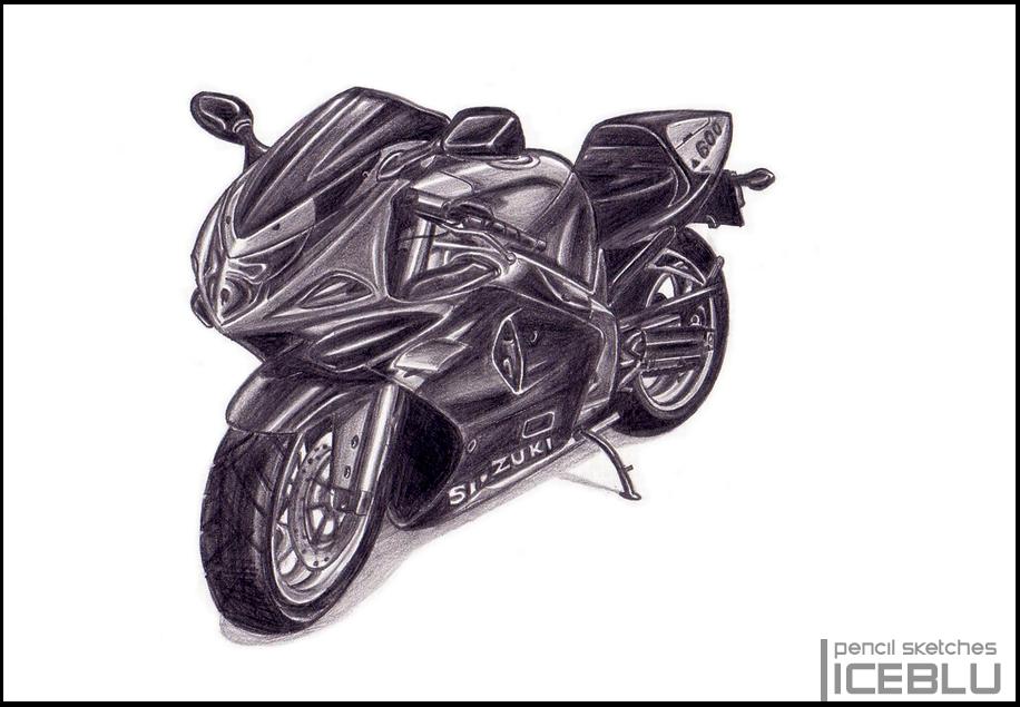Pencil Sketch - Bike by iceblu