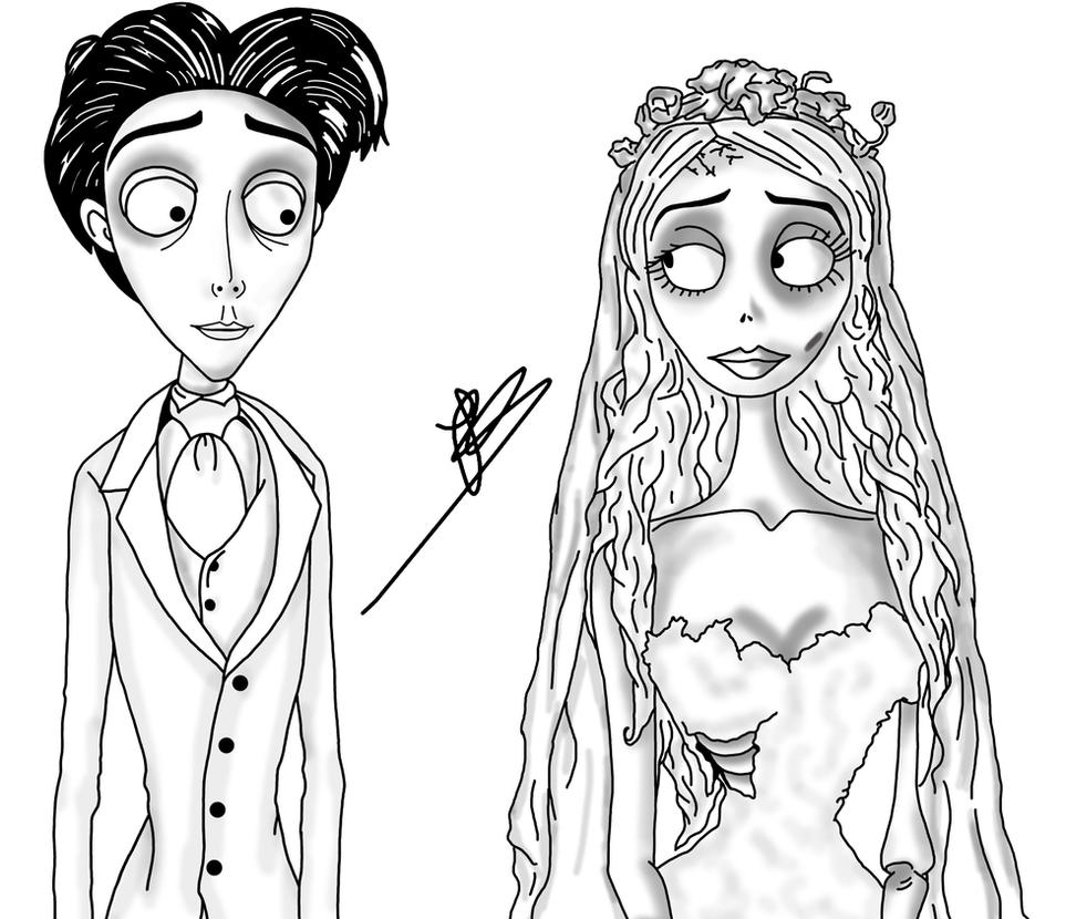 the corpse bride free colouring pages