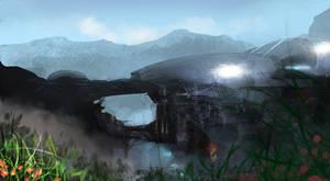 Science fiction scene 4 by paooo