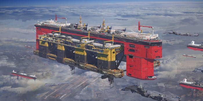 Consortium's Oil Rig transport