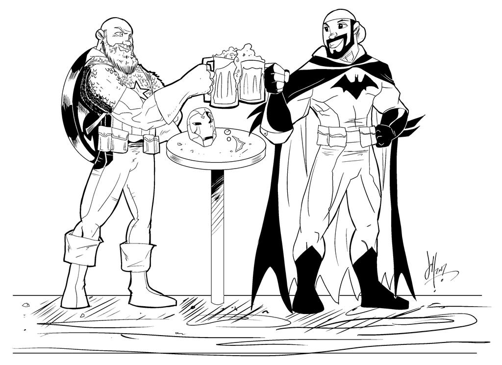 Batman captain america commish by Darkstampede