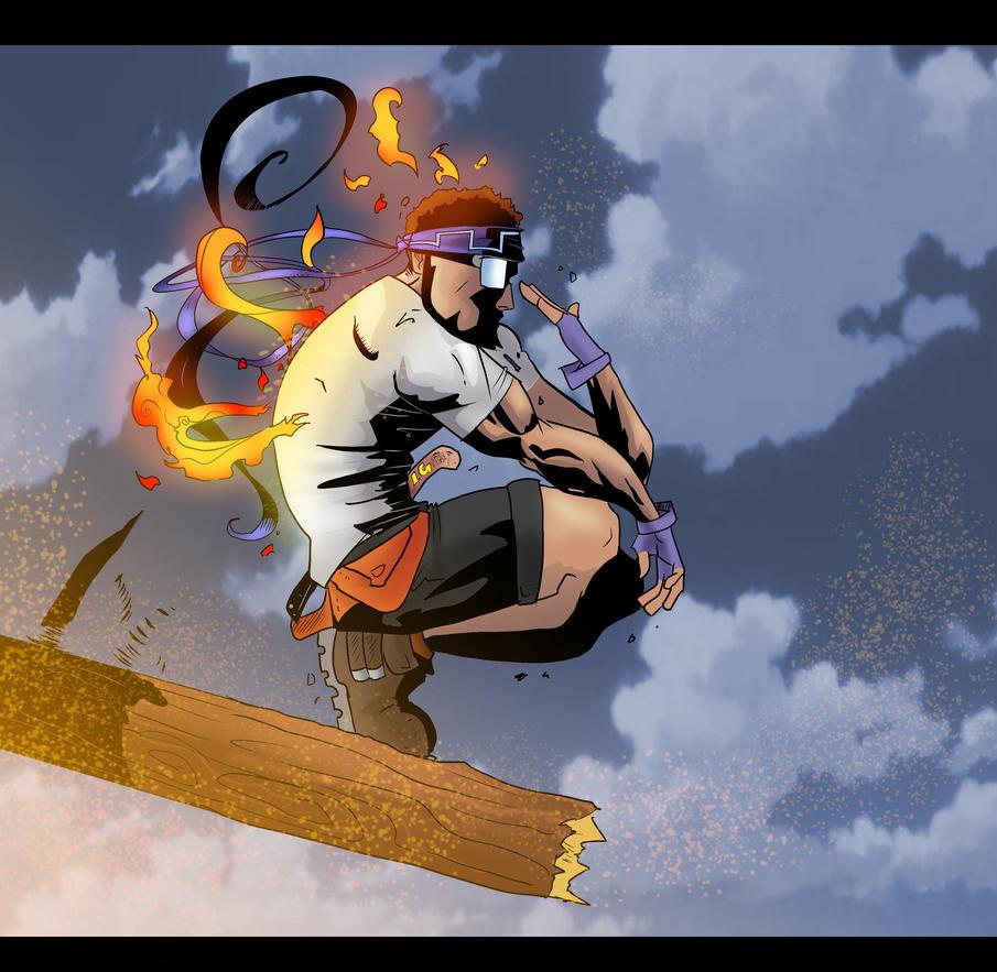 Man On Fire by Darkstampede